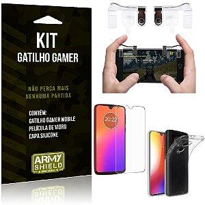 Gatilho Gamer Motorola Moto G7 Gatilho + Capa Silicone + Película Vidro - Armyshield