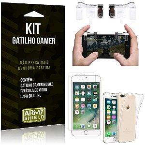 Gatilho Gamer Apple iPhone 7 Plus Gatilho + Capa Silicone + Película Vidro - Armyshield