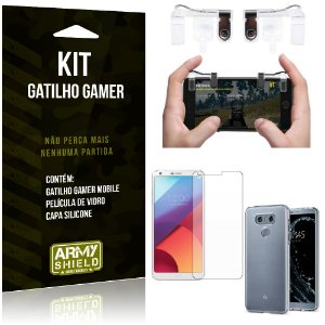 Gatilho Gamer LG G6 Gatilho + Capa Silicone + Película Vidro - Armyshield