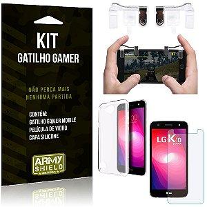 Gatilho Gamer LG K10 Power Gatilho + Capa Silicone + Película Vidro - Armyshield