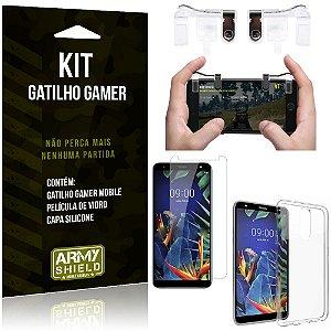 Gatilho Gamer LG K12 Plus Gatilho + Capa Silicone + Película Vidro - Armyshield