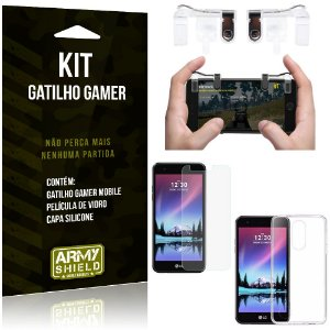 Gatilho Gamer LG K4 Novo Gatilho + Capa Silicone + Película Vidro - Armyshield