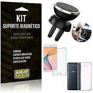 Suporte Magnético Galaxy J5 Prime Suporte + Capa Silicone + Película Vidro - Armyshield