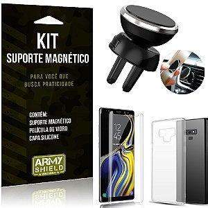 Suporte Magnético Galaxy Note 9 Suporte + Capa Silicone + Película Vidro - Armyshield
