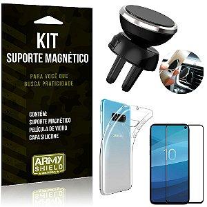 Suporte Magnético Galaxy S10e Suporte + Capa Silicone + Película Vidro - Armyshield