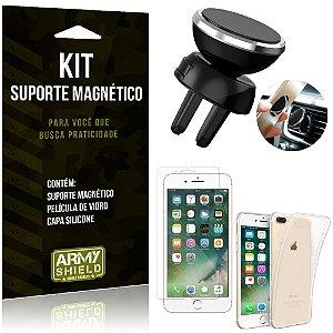 Suporte Magnético Apple iPhone 7 Plus Suporte + Capa Silicone + Película Vidro - Armyshield