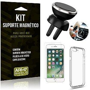 Suporte Magnético Apple iPhone 8 Plus Suporte + Capa Silicone + Película Vidro - Armyshield
