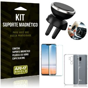 Suporte Magnético LG G7 Suporte + Capa Silicone + Película Vidro - Armyshield