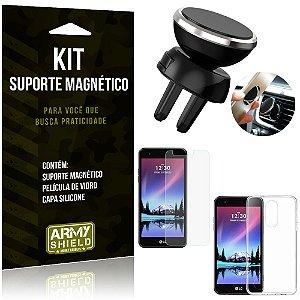Suporte Magnético LG K4 Novo Suporte + Capa Silicone + Película Vidro - Armyshield