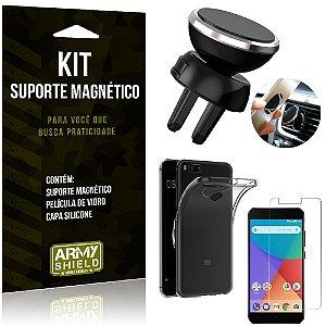 Suporte Magnético Xiaomi Mi A1 (Mi 5X) Suporte + Capa Silicone + Película Vidro - Armyshield
