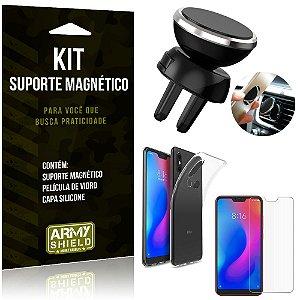 Suporte Magnético Xiaomi Mi A2 Lite (Redmi 6 Pro) Suporte + Capa + Película Vidro - Armyshield