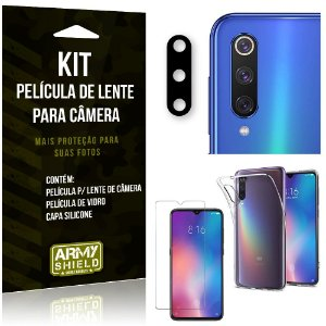 Película Flexível para Câmera Xiaomi Mi 9 Película + Capa + Película Vidro - Armyshield