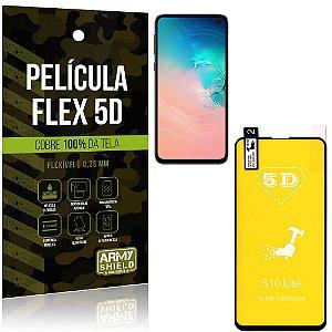 Película Indestrutível Flex Galaxy S10e Não trinca e cobre a tela toda - Armyshield
