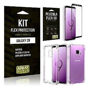 Kit Flex Protection Samsung S9 Capa Anti Impacto + Película Flex 5D - Armyshield