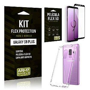 Kit Flex Protection Samsung S9 Plus Capa Anti Impacto + Película Flex 5D - Armyshield