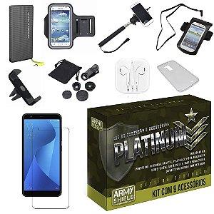 Kit Platinum Zenfone Max M1 ZB555KL com 9 Acessórios - Armyshield
