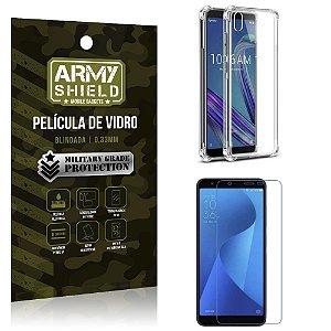 Kit Anti Impacto Zenfone Live L1 ZA550KL Capinha Anti Impacto + Película Vidro - Armyshield