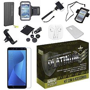 Kit Platinum Zenfone Live L1 ZA550KL com 9 Acessórios - Armyshield