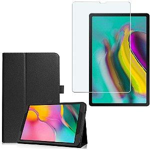 Capa Pasta + Película de Vidro Tablet Samsung Galaxy Tab S5e 10.5 T725 - Armyshield