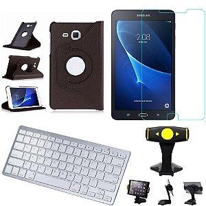 Capa Giratória Samsung Tab A 7.0 T280/T285  + Película + Teclado +Suporte Mesa +Caneta - Armyshield