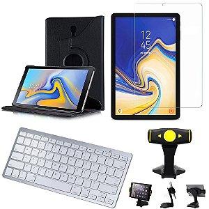 Capa Giratória Samsung Tab S4 10.5 T830/T835  + Película + Teclado + Suporte +Caneta - Armyshield