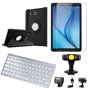 Capa Giratória Samsung Tab E 9.6 T560/T561  + Película +Teclado +Suporte de Mesa +Caneta- Armyshield