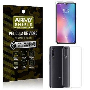 Kit Capa Silicone Xiaomi Mi 9 SE Capa Silicone + Película de Vidro - Armyshield