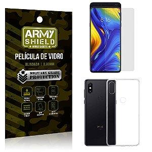 Kit Capa Silicone Xiaomi Mi Mix 3 Capa Silicone + Película de Vidro - Armyshield