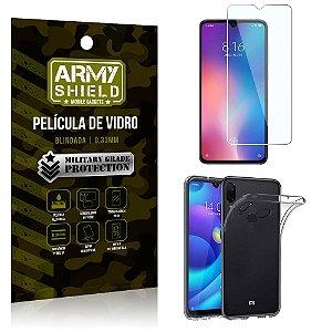 Kit Capa Silicone Xiaomi Redmi Note 7 Capa Silicone + Película de Vidro - Armyshield