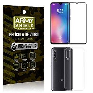 Kit Película de Vidro 3D Xiaomi Mi 9 SE Película de Vidro 3D + Capa Silicone - Armyshield