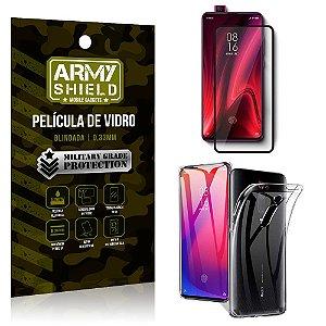 Kit Película de Vidro 3D Xiaomi Redmi K20 Mi 9T Película de Vidro 3D + Capa Silicone - Armyshield