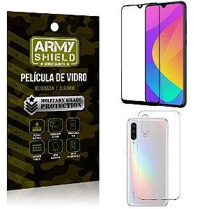 Kit Película de Vidro 3D Xiaomi Mi A3 (CC9e) Película de Vidro 3D + Capa Silicone - Armyshield