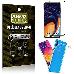 Kit Película de Vidro 3D Samsung A60 Película de Vidro 3D + Capa Silicone - Armyshield