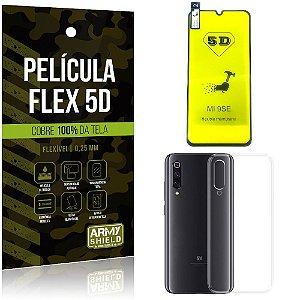 Kit Película Flex 5D Xiaomi Mi 9 SE Cobre a tela toda Película Flex 5D + Capa TPU - Armyshield