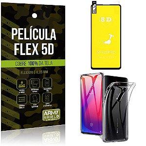 Kit Película Flex 5D Xiaomi Redmi K20 Mi 9T Cobre a tela toda Película Flex 5D+Capa TPU - Armyshield