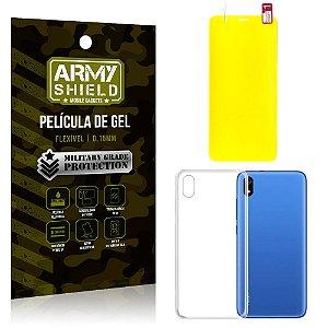 Kit Película de Gel Xiaomi Redmi 7A Película de Gel + Capa Silicone - Armyshield