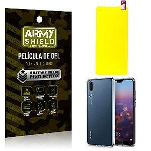 Kit Película de Gel Huawei P30 Película de Gel + Capa Silicone - Armyshield
