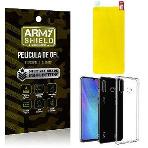 Kit Película de Gel Huawei P30 Lite Película de Gel + Capa Silicone - Armyshield