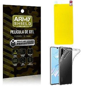 Kit Película de Gel Huawei P30 Pro Película de Gel + Capa Silicone - Armyshield