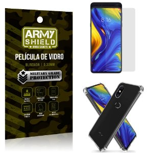 Kit Capa Anti Impacto Xiaomi Mi Mix 3 Capa Anti Impacto + Película de Vidro - Armyshield
