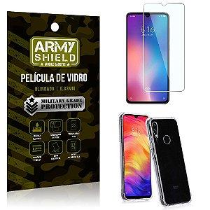 Kit Capa Anti Impacto Xiaomi Redmi Note 7 Capa Anti Impacto + Película de Vidro - Armyshield