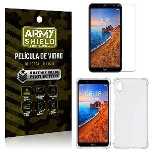 Kit Capa Anti Impacto Xiaomi Redmi 7A Capa Anti Impacto + Película de Vidro - Armyshield