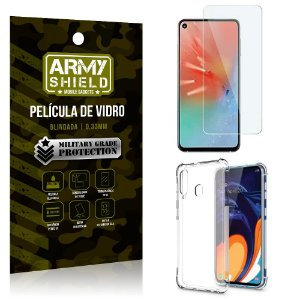 Kit Capa Anti Impacto Samsung A60 Capa Anti Impacto + Película de Vidro - Armyshield