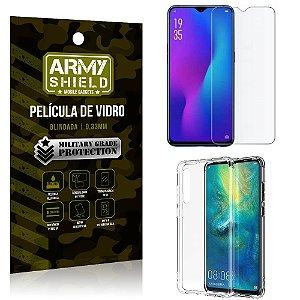 Kit Capa Anti Impacto Huawei P30 Capa Anti Impacto + Película de Vidro - Armyshield