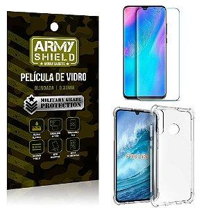 Kit Capa Anti Impacto Huawei P30 Lite Capa Anti Impacto + Película de Vidro - Armyshield