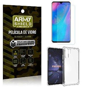 Kit Capa Anti Impacto Huawei P30 Pro Capa Anti Impacto + Película de Vidro - Armyshield