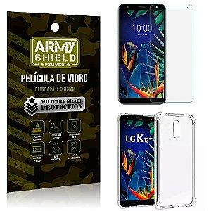 Kit Capa Anti Impacto LG K12 K12 Plus Capa Anti Impacto + Película de Vidro - Armyshield