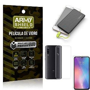 Kit Powerbank 5K Tipo C Xiaomi Mi 9 SE Capa + Película Vidro + Powerbank 5000 mAh - Armyshield