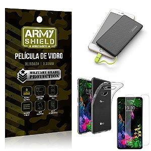 Kit Powerbank 5K Tipo C LG G8S Capa + Película Vidro + Powerbank 5000 mAh - Armyshield