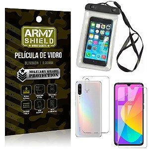 Kit Capa a Prova D'água Xiaomi Mi A3 (CC9e) Capa Prova Dagua + Película Vidro +Capa TPU - Armyshield